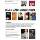 Harvard Ed Press: Race and Education Flier